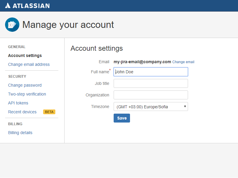 Atlassian Account Management