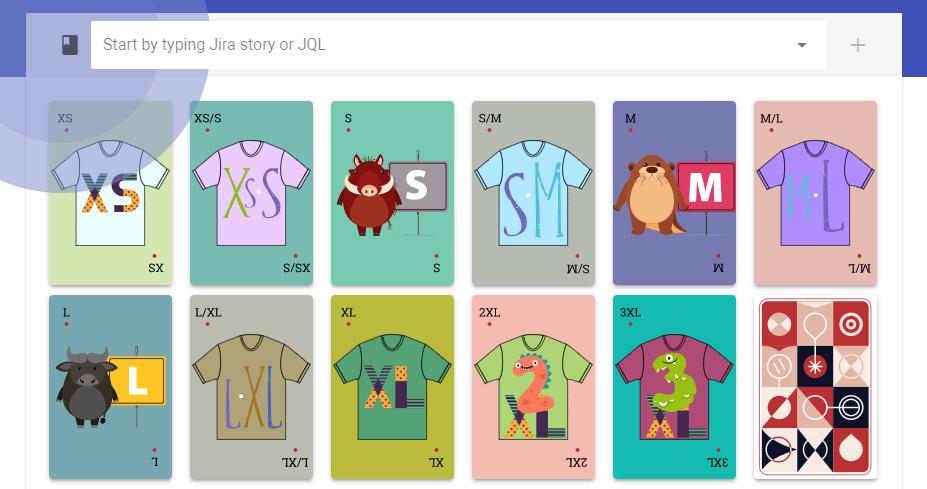 T-Shirt story sizing