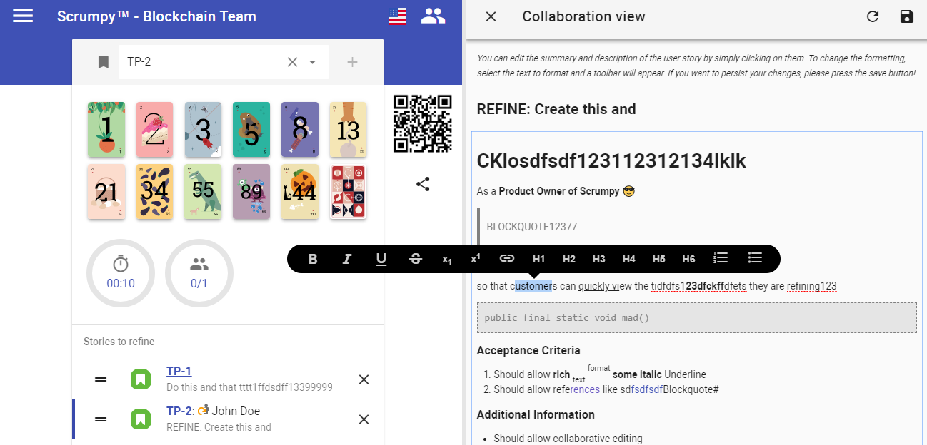Collaboration editor