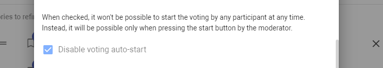 Disable voting auto-start
