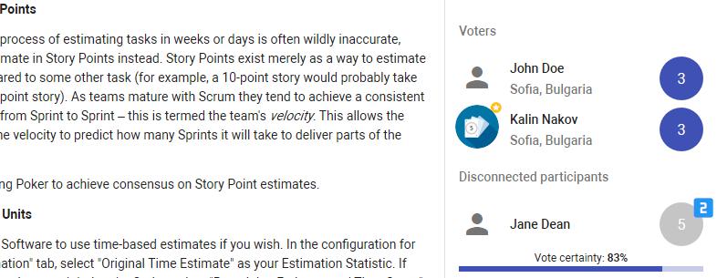 Disconnected participants
