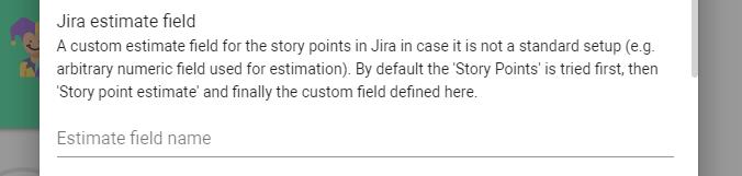 Jira estimate field